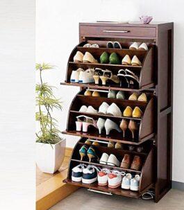 Curve shoe rack